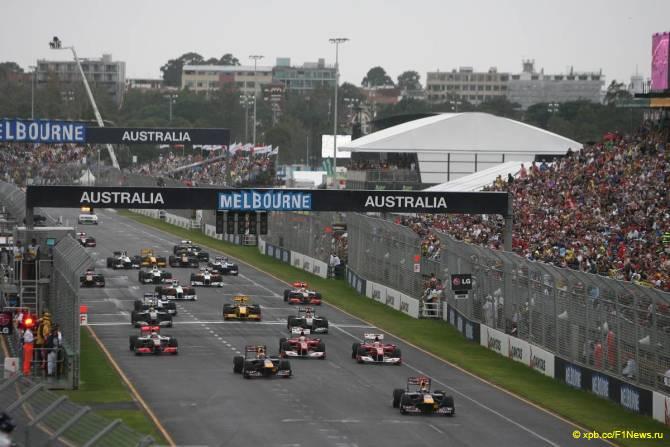 Старт Гран При Австралии 2010