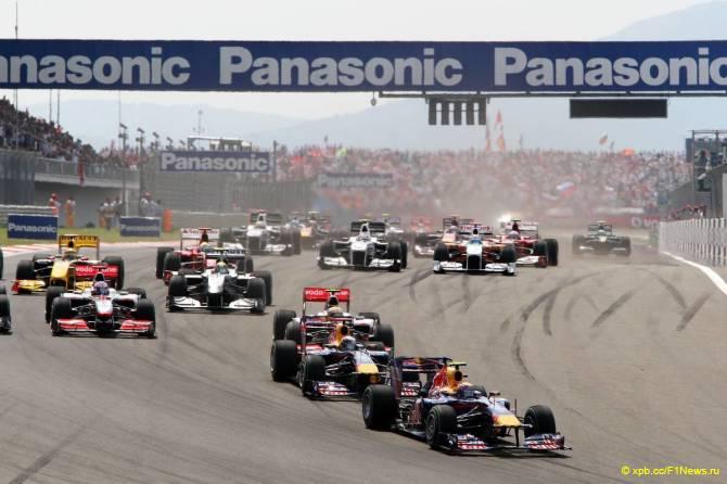Старт Гран При Турции 2010