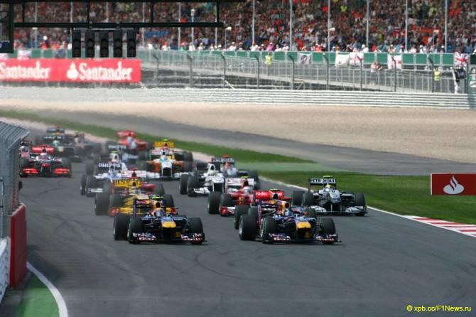 Старт Гран при Великобритании 2010
