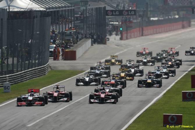 Старт Гран При Италии 2010