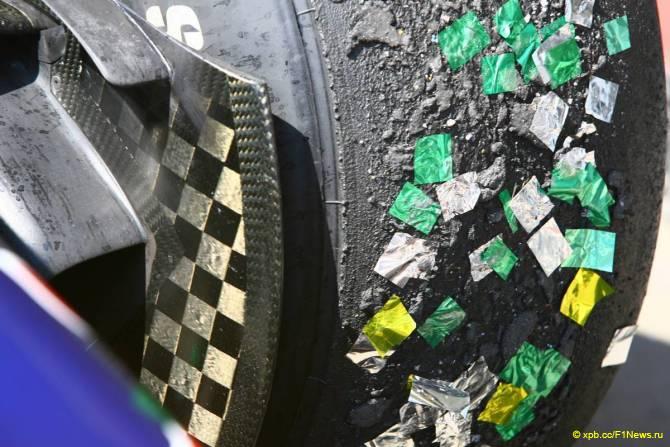 Шина Bridgestone у подиума