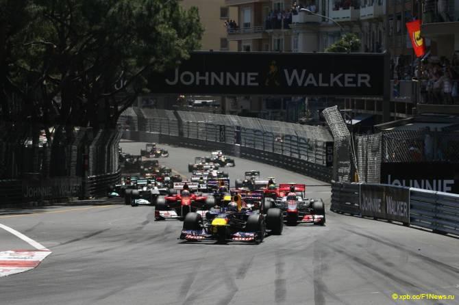 Старт Гран При Монако 2011