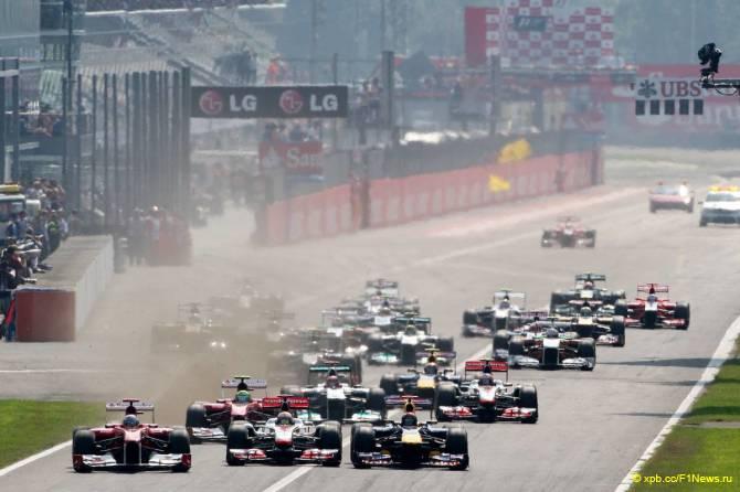 Старт Гран При Италии 2011