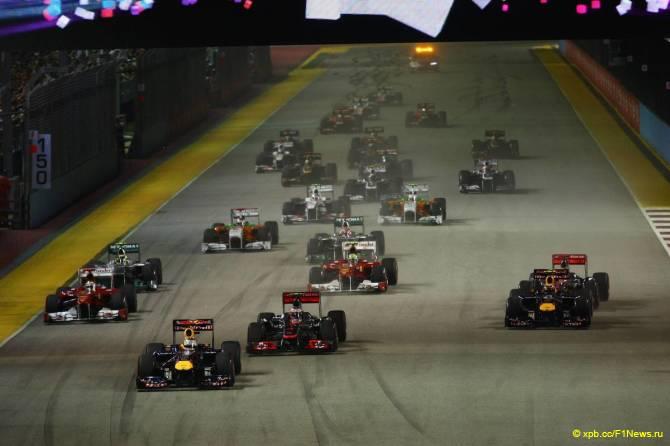 Старт Гран При Сингапура 2011