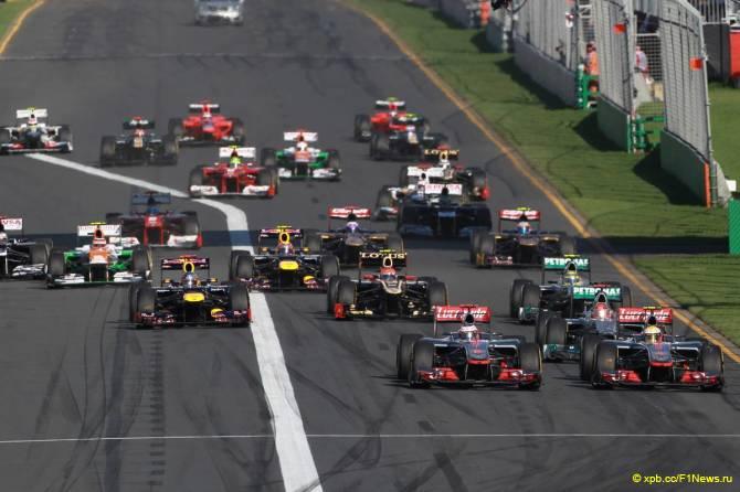 Старт Гран При Австралии 2012