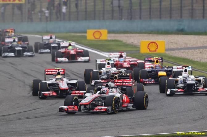 Старт Гран При Китая 2012