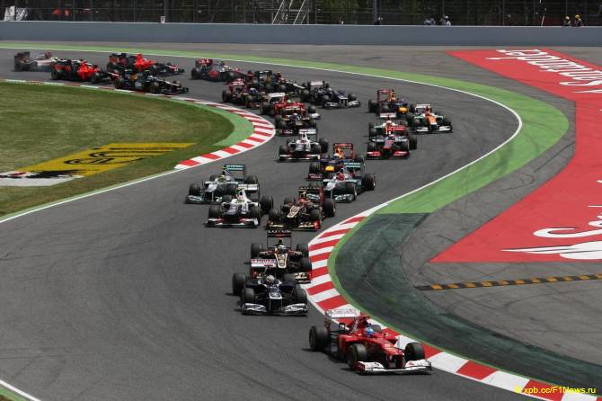 Старт Гран При Испании 2012