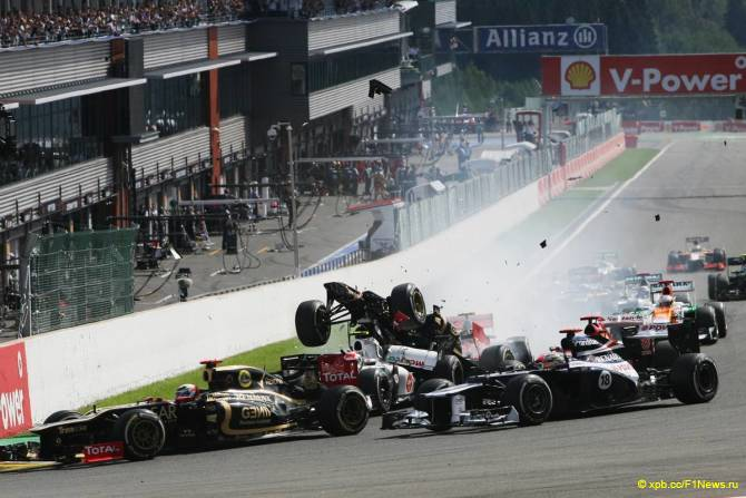 Старт Гран При Бельгии 2012