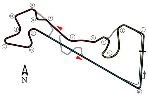 Схема трассы Moscow Raceway