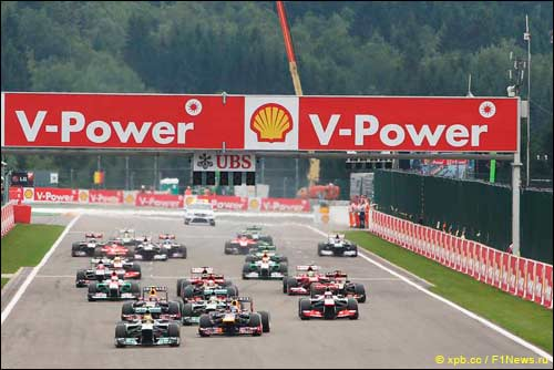 Гран При Бельгии: Феттель - Алонсо - Хэмилтон